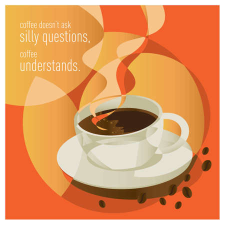Coffee quote design