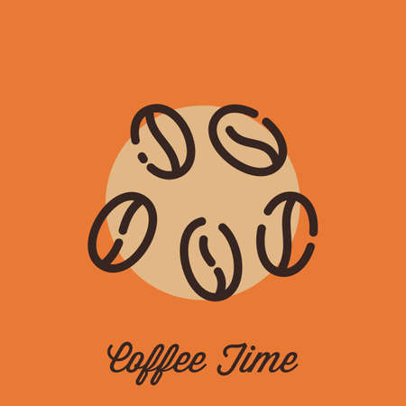 coffee beans Stock Vector - 77392657