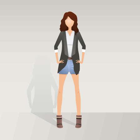 A fashion model posing