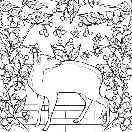 intricate mouse deer design
