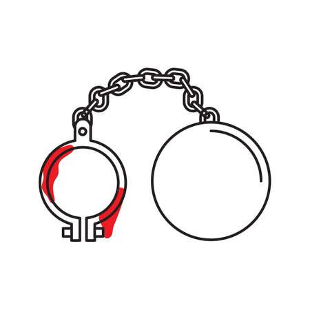 Ball and chain Ilustração