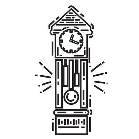 Grandfather clock Stock Vector - 77564680