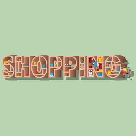 shopping lettering design
