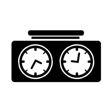 chess clock Ilustracja