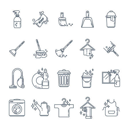 set of household equipment icons