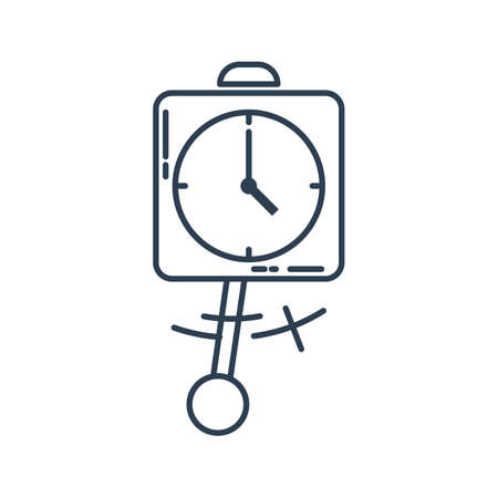 clock with pendulum Stock Vector - 77582106