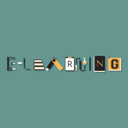 e-learning lettering design