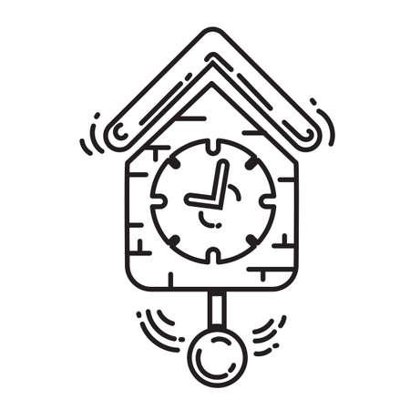 cuckoo clock Stock Vector - 77582116