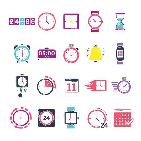 set van tijd pictogrammen