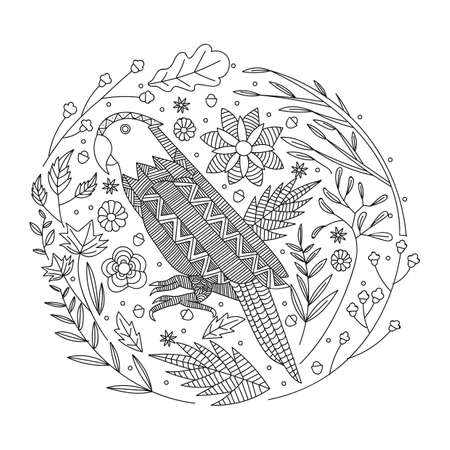Diseño Intrincado De Las Aves Ilustraciones Vectoriales, Clip Art ...