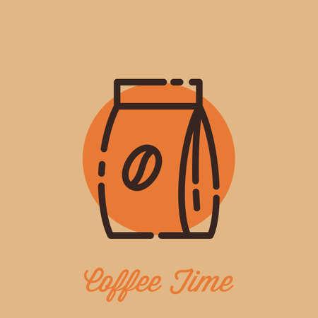 coffee bean bag Banco de Imagens - 77395241