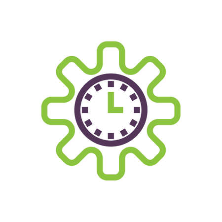 Cogwheel clock icon
