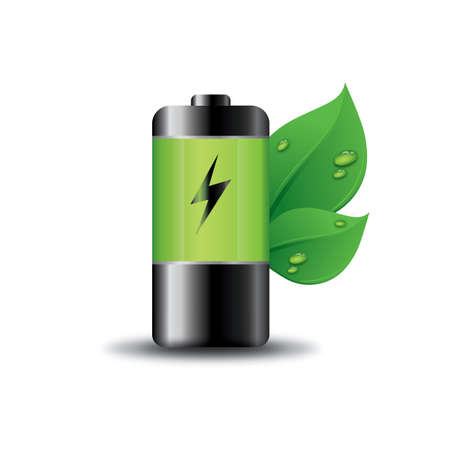 Battery with eco friendly concept Ilustrace