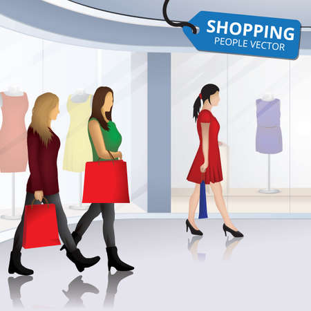 people shopping design