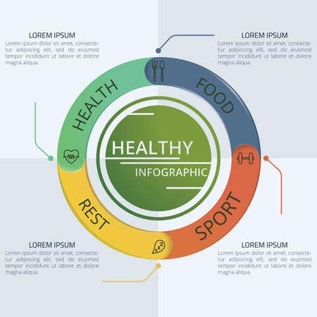 Healthy infographic design
