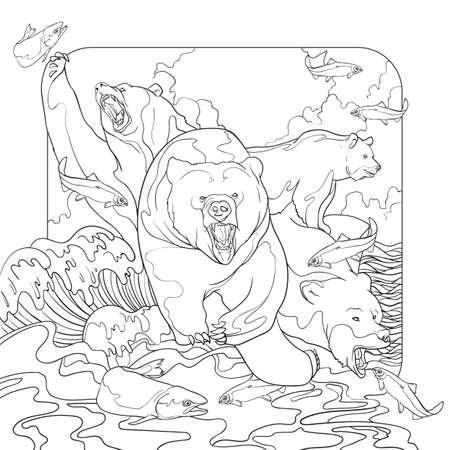 bears hunting design
