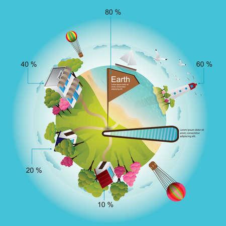Earth infographic design. Illustration
