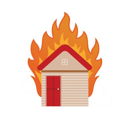 house on fire Ilustração