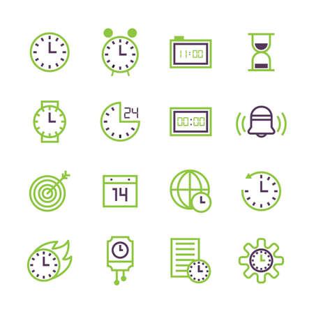 pendulum: Set of time concept icons.