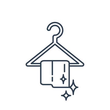 Towel hanger. Illustration