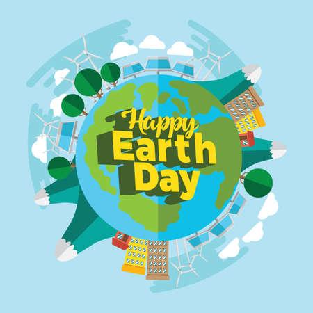 Earth day design Ilustrace