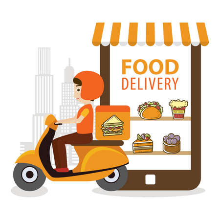 food delivery concept