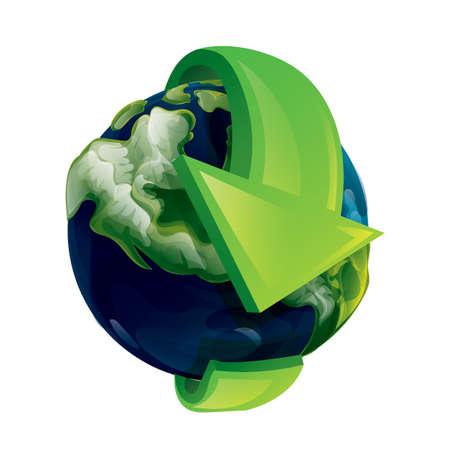 행성 지구 회전 화살표