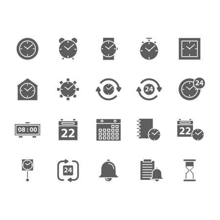 set of time concept icons Ilustração
