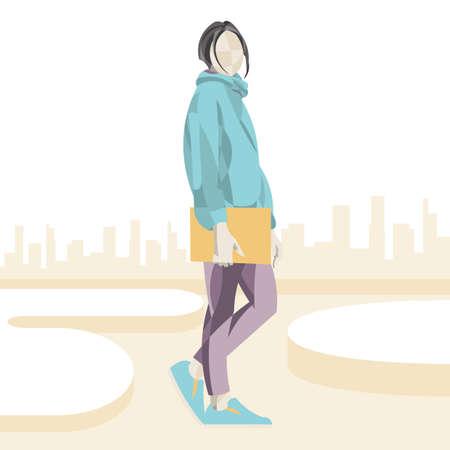 fashion model posing Illustration