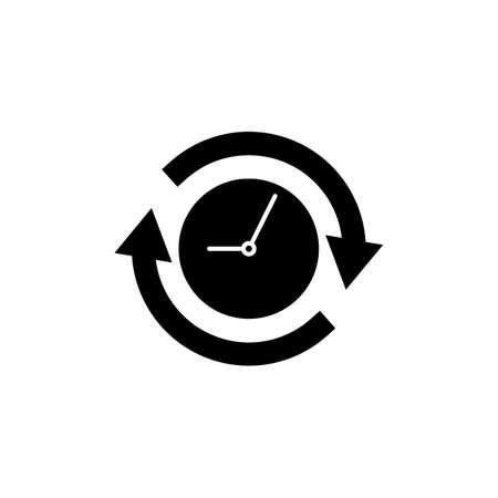 klok met pijlen pictogram Stock Illustratie