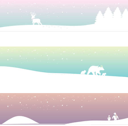 collection of winter banner designs Ilustracja