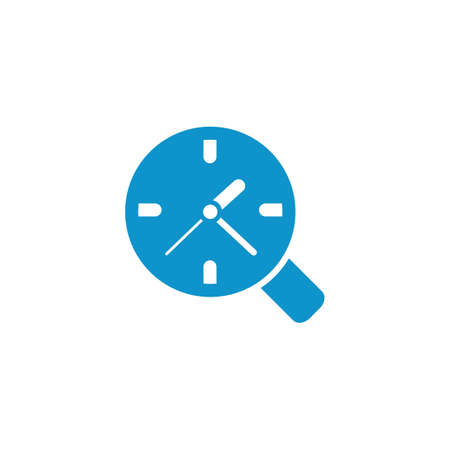magnifying glass over a clock