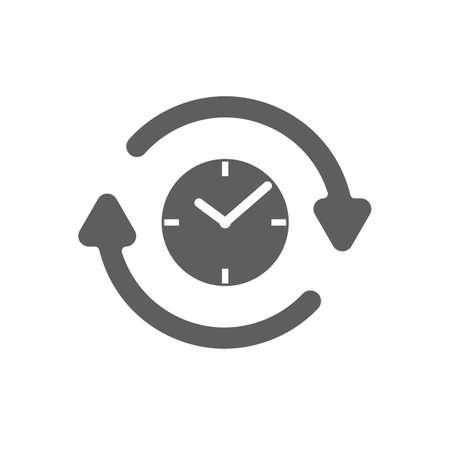 clock with clockwise icon Illustration