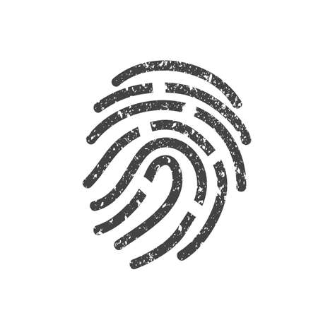 fingerprint icon Illustration