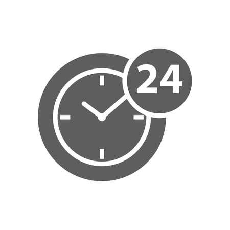 24 uur klok icoon Stock Illustratie