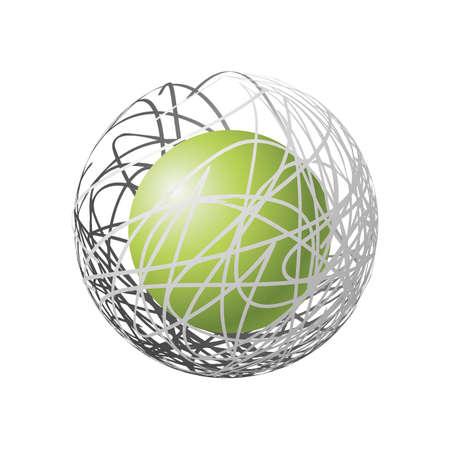 Sphérique design élément logo Banque d'images - 77327558