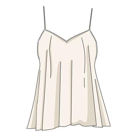spaghetti strap blouse Banco de Imagens - 77327559