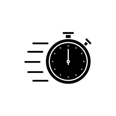 Flying stopwatch icon