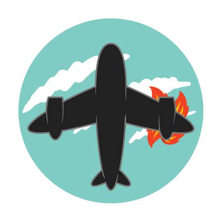 plane on fire