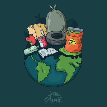 Aarde dag ontwerp Stock Illustratie