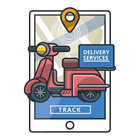 Shipment tracking concept Ilustração