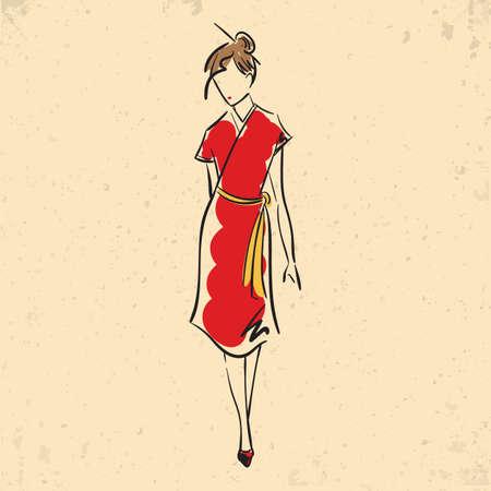 Fashion model in casual dress