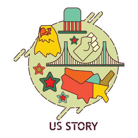United states story concept.