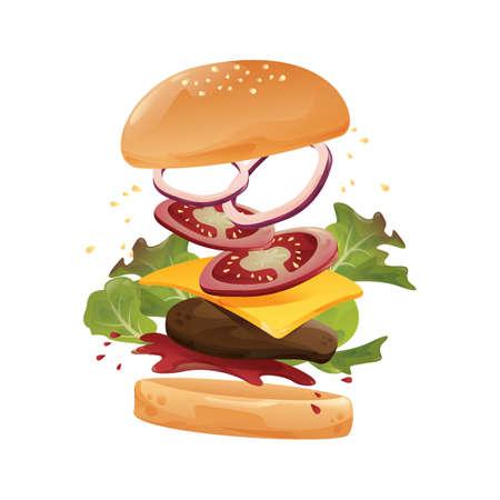 Tossed cheeseburger.