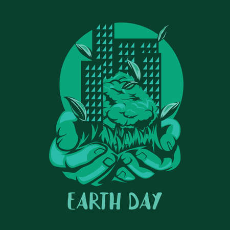Earth day design Иллюстрация
