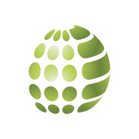 Spherical logo element design.