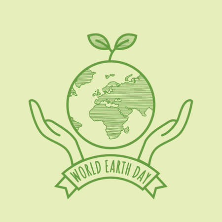 World earth day design.