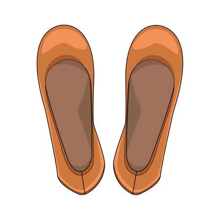 Ballerina shoes. Illustration