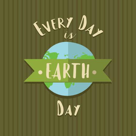 지구의 날 디자인입니다. 일러스트