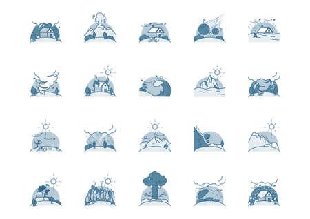 Collection d'icônes de catastrophe